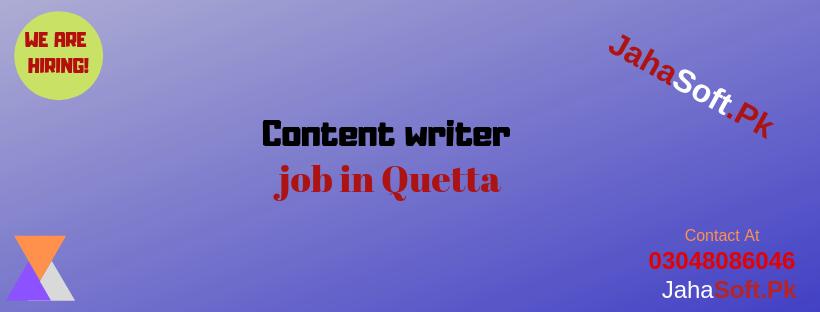 Content writer job in Quetta